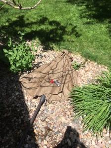 broken patio umbrella