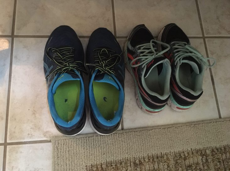 his and hers shoelace knots