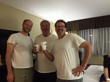 A good undershirt is all a man needs to commence celebrating in the hotel, after...
