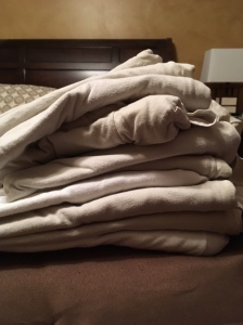 Stack of undershirts
