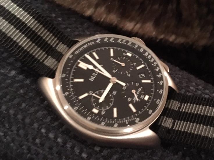 Bulova Moon Watch on bond strap