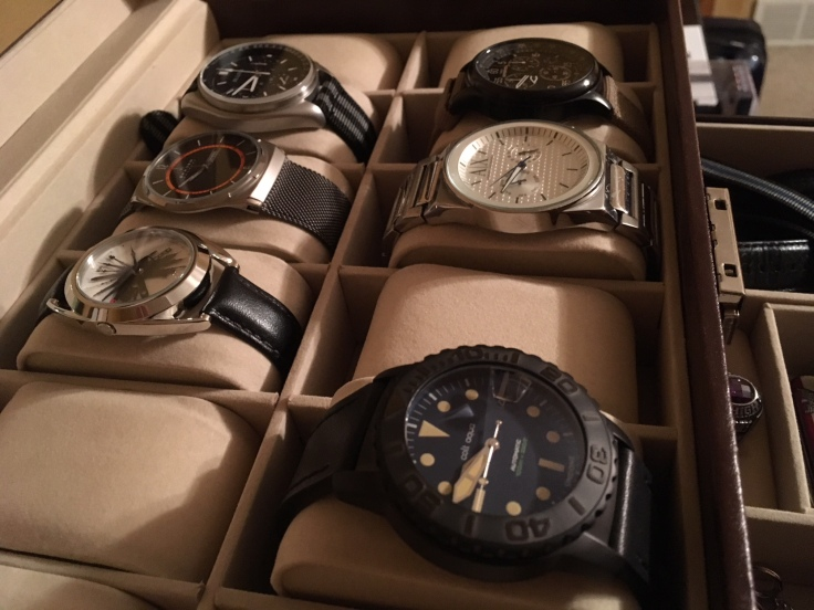 watches in display case