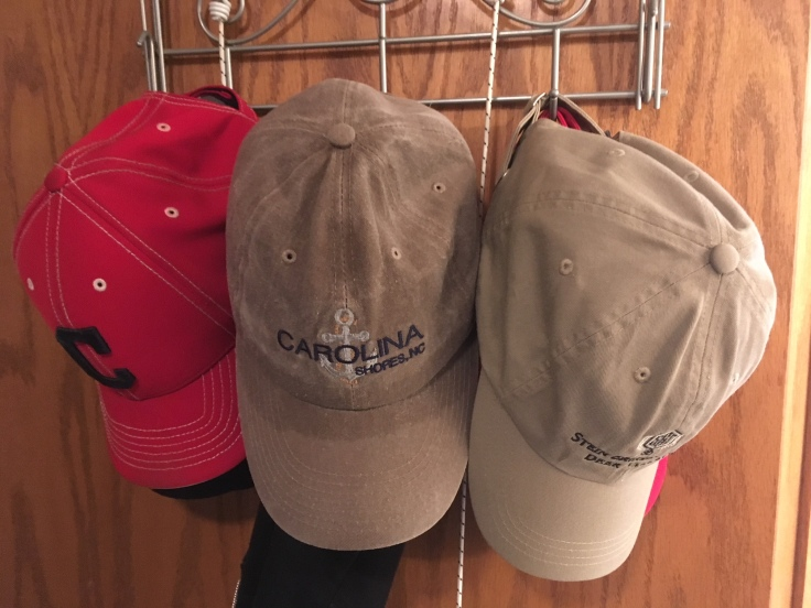 nice Hats hanging neatly