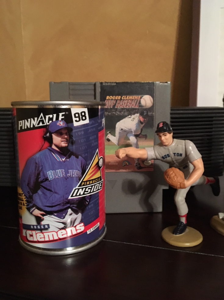 Roger Clemens baseball card tin action figure