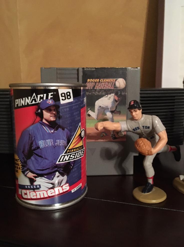 Roger Clemens baseball card tin action figure