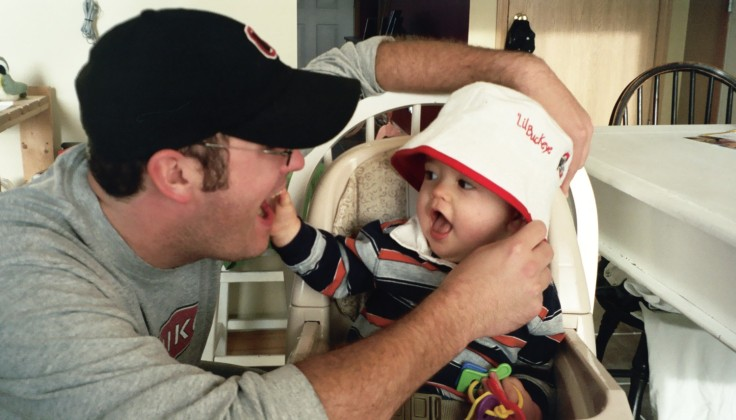 Buckeyes Hat on Baby Foutz