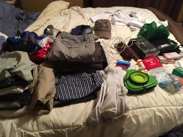 Packing for a week at scout camp as an adult volunteer