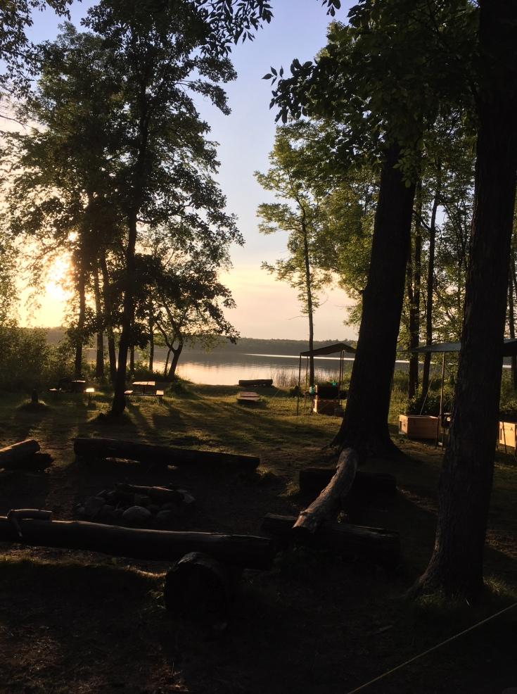 Morning splendor at camp
