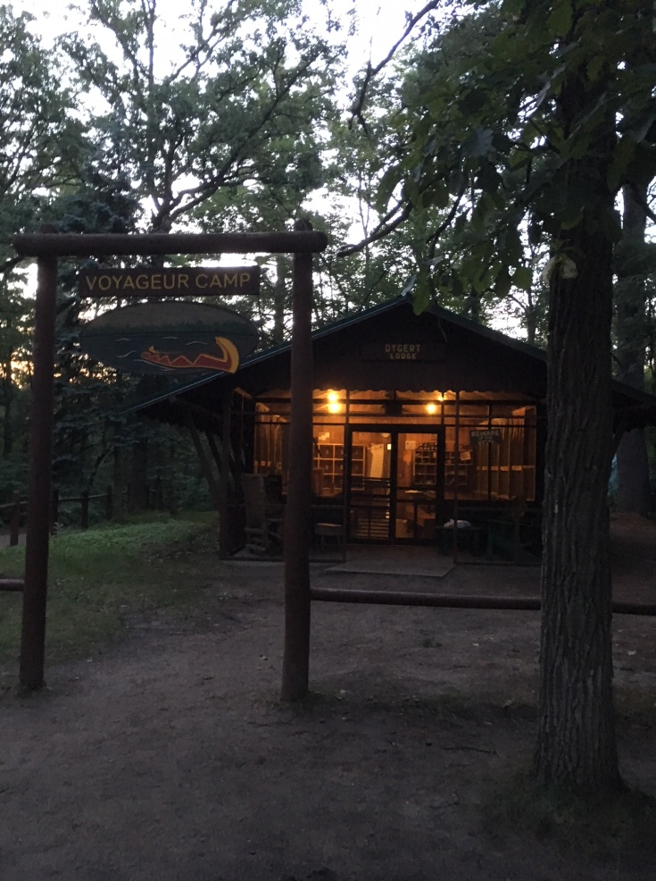 Welcome glow of camp lodges