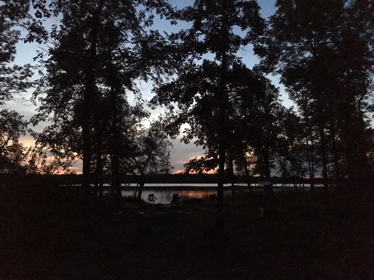 Sunset at Many Point Scout Camp
