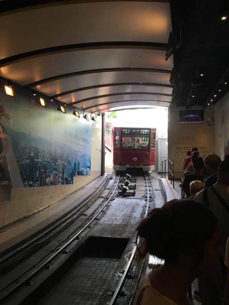 Tram up Victoria Peak