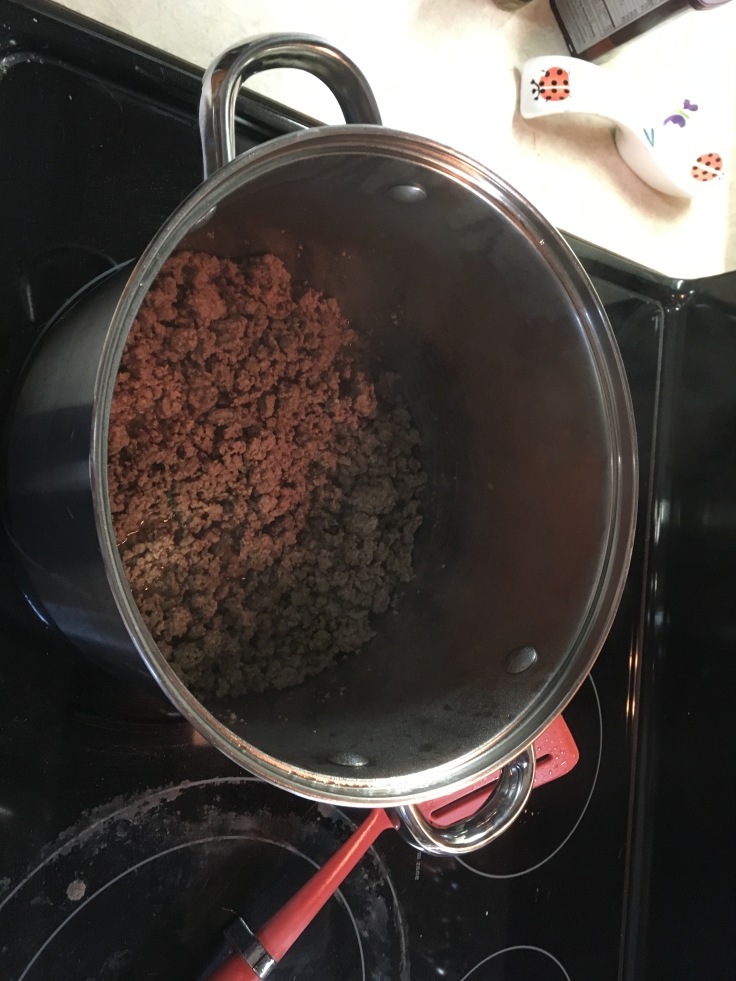 Brown the ground beef