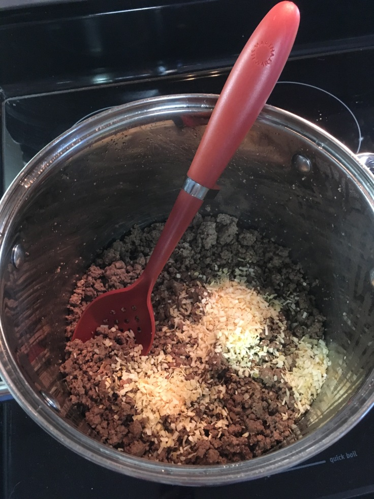 Add minced onion