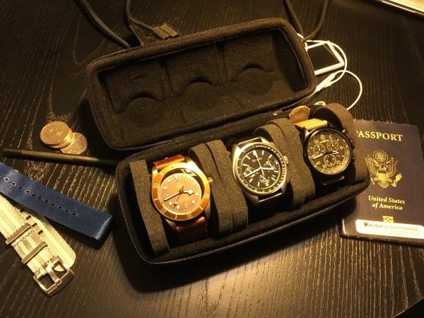 Full 3-watch traveling case
