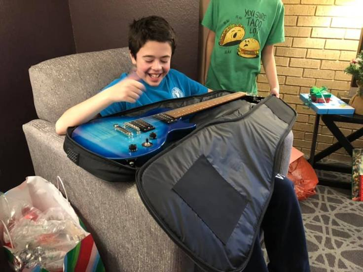 Jonah Foutz gets a guitar