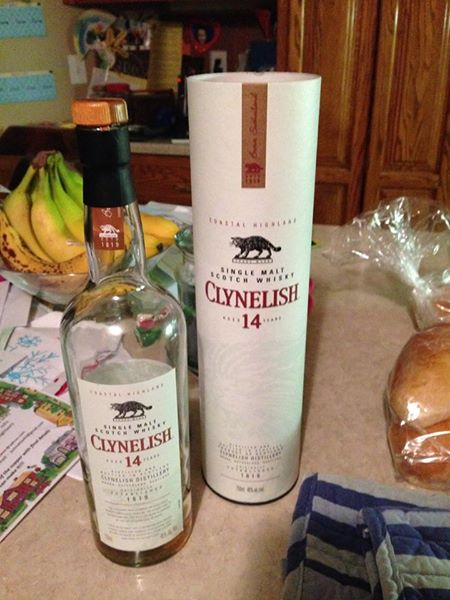 Clynelish 14 year single malt scotch