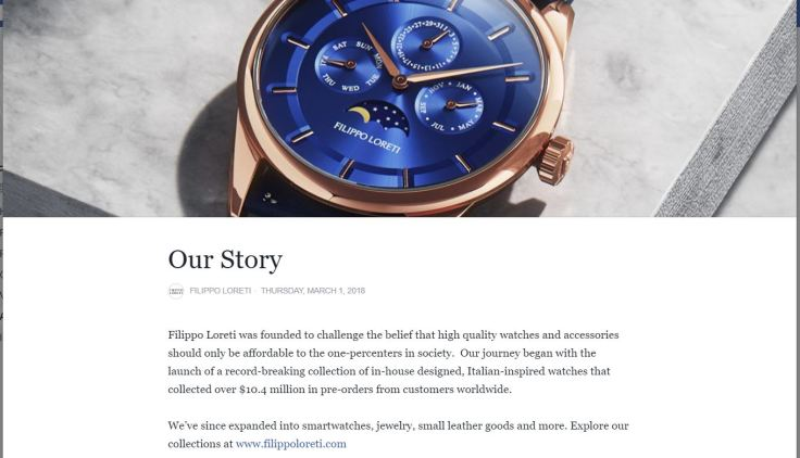 Filippo Loreti Crappy Watches