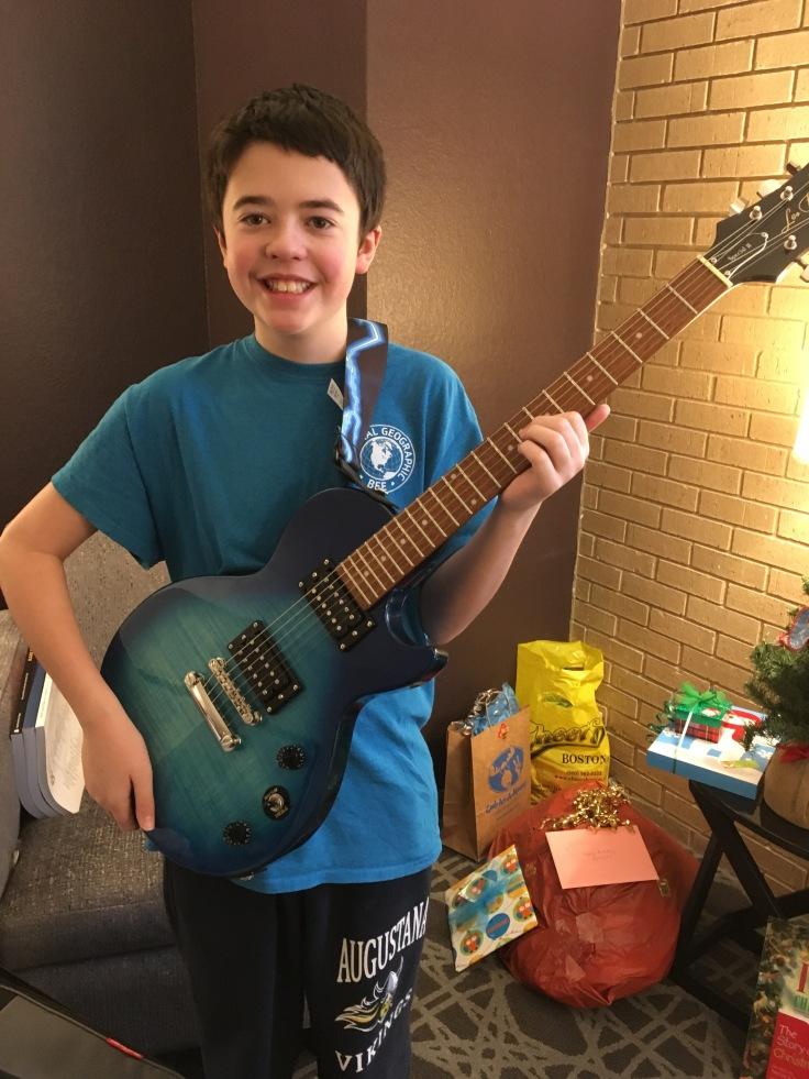 Jonah and his guitar