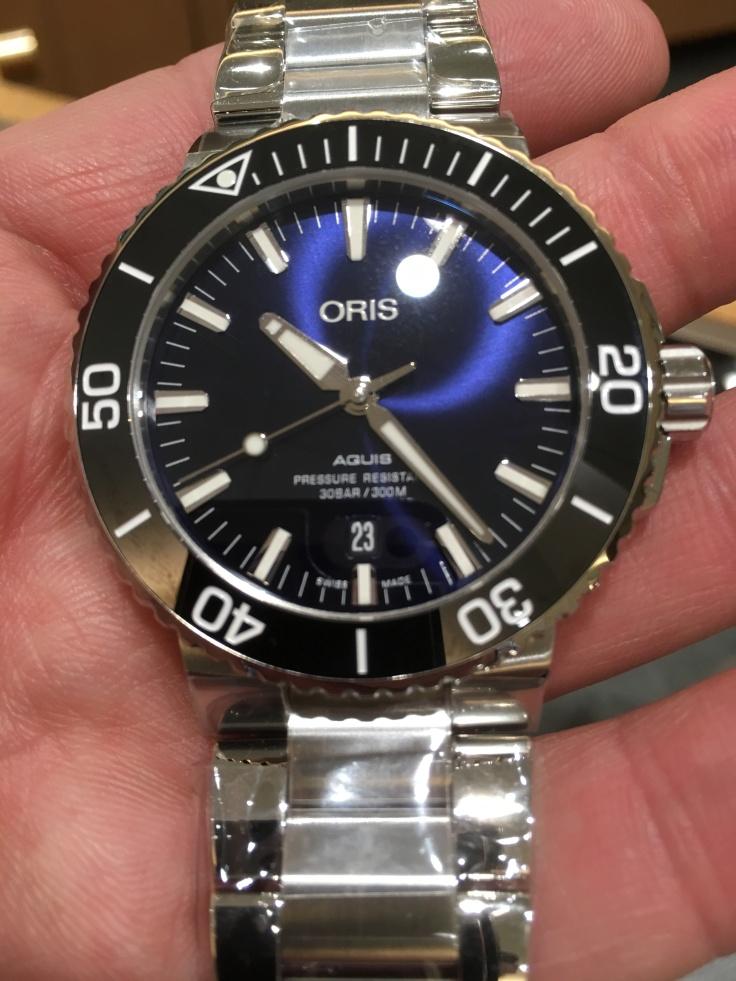 Oris Aquis Date on Steel Bracelet