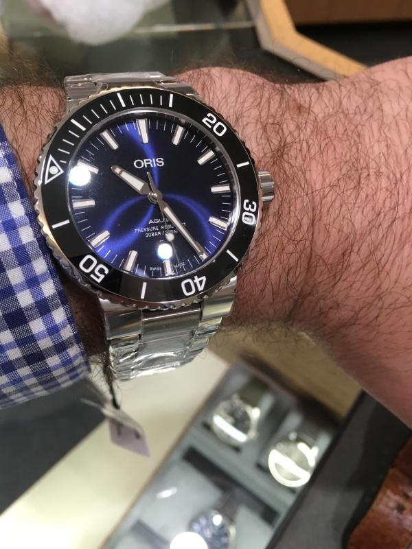 Oris Aquis Date on Wrist