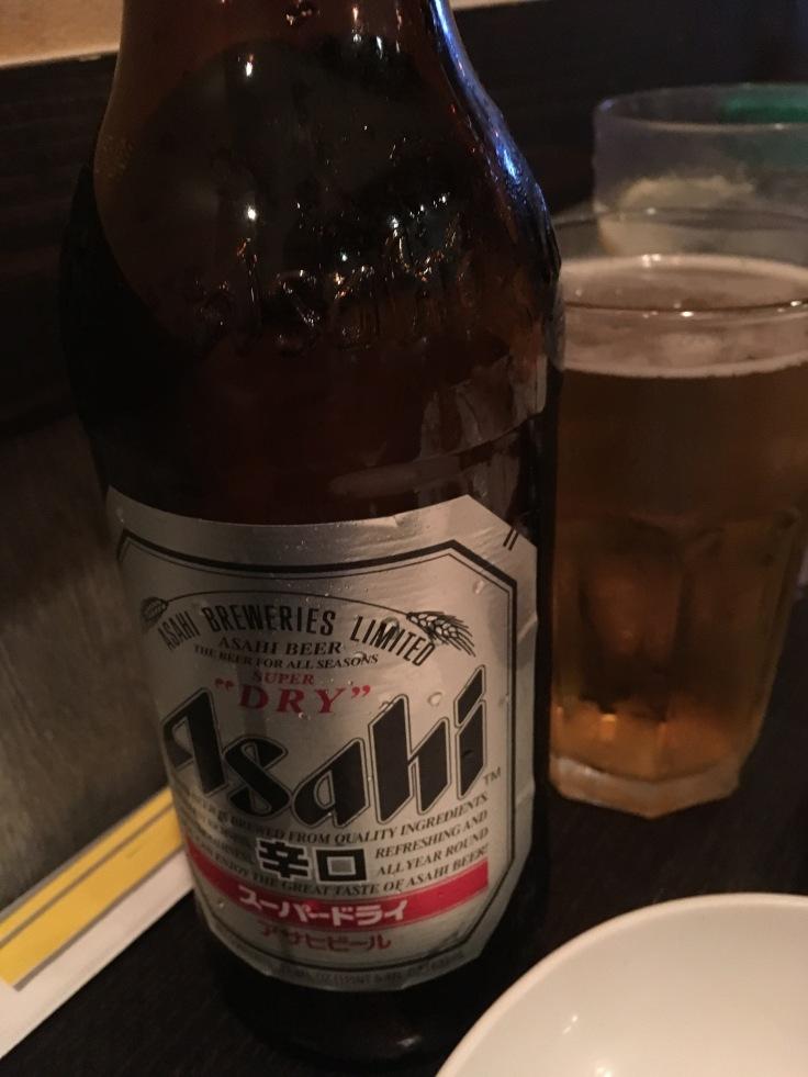 tall Asahi beer
