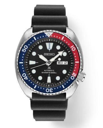 Prospex Turtle black dial, Pepsi bexel, rubber.
