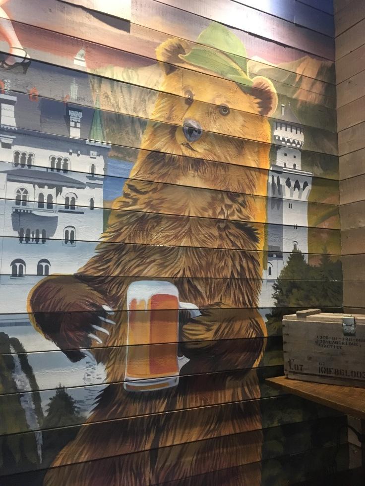 Stein drinking bear at Von Elrod's Nashville