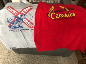 Portland Lucky Beavers Sioux Falls Canaries T shirts Ebbets Field Flannels