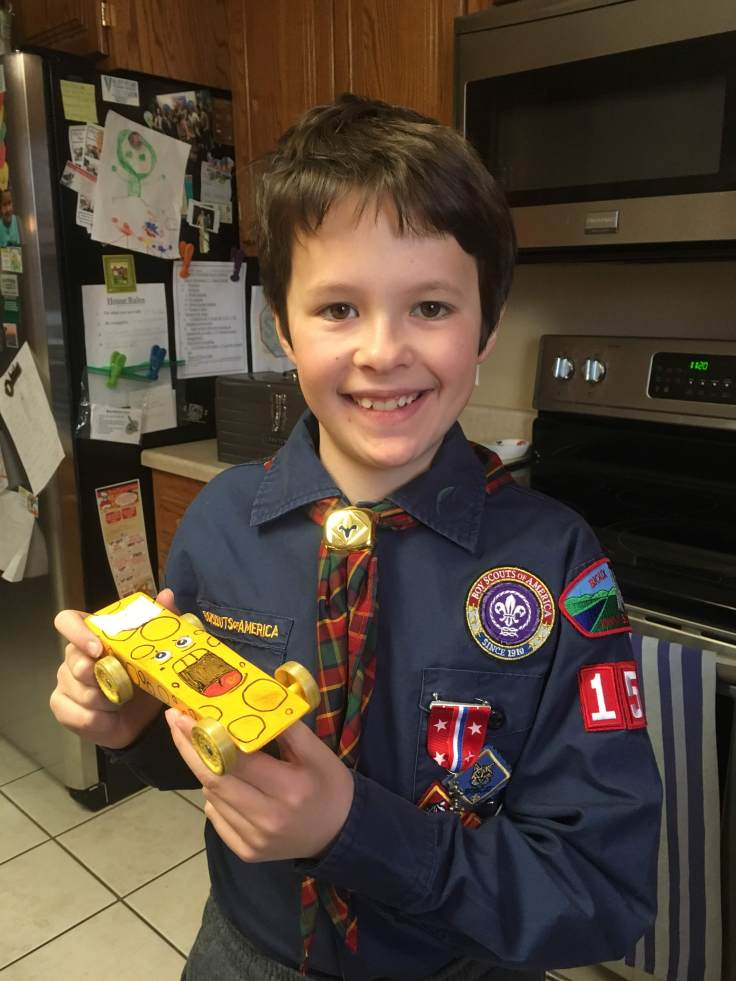 Ben Screaming Cheese Pinewood Car Regionals Finalist