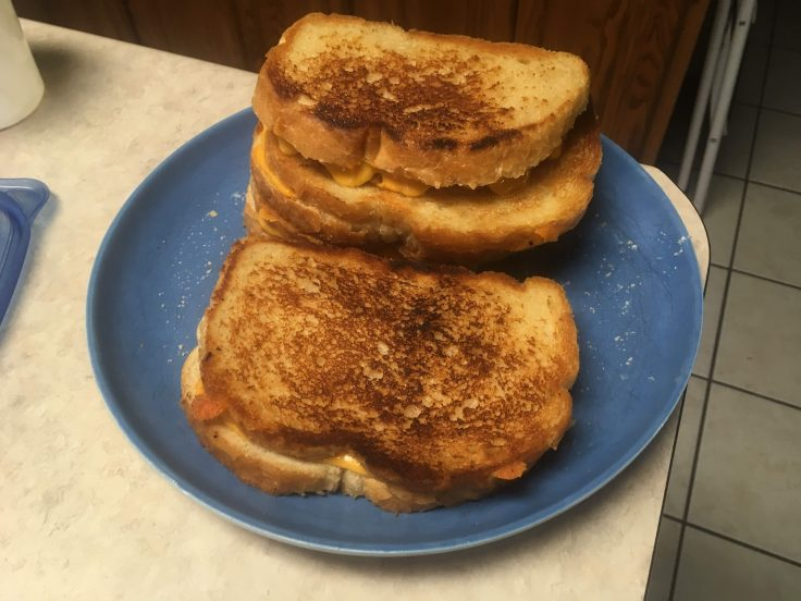 Grilled Cheese Sandwiches By Dad Come with Steak