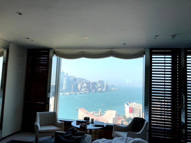 View from harbor-facing room at Rosewood Hong Kong