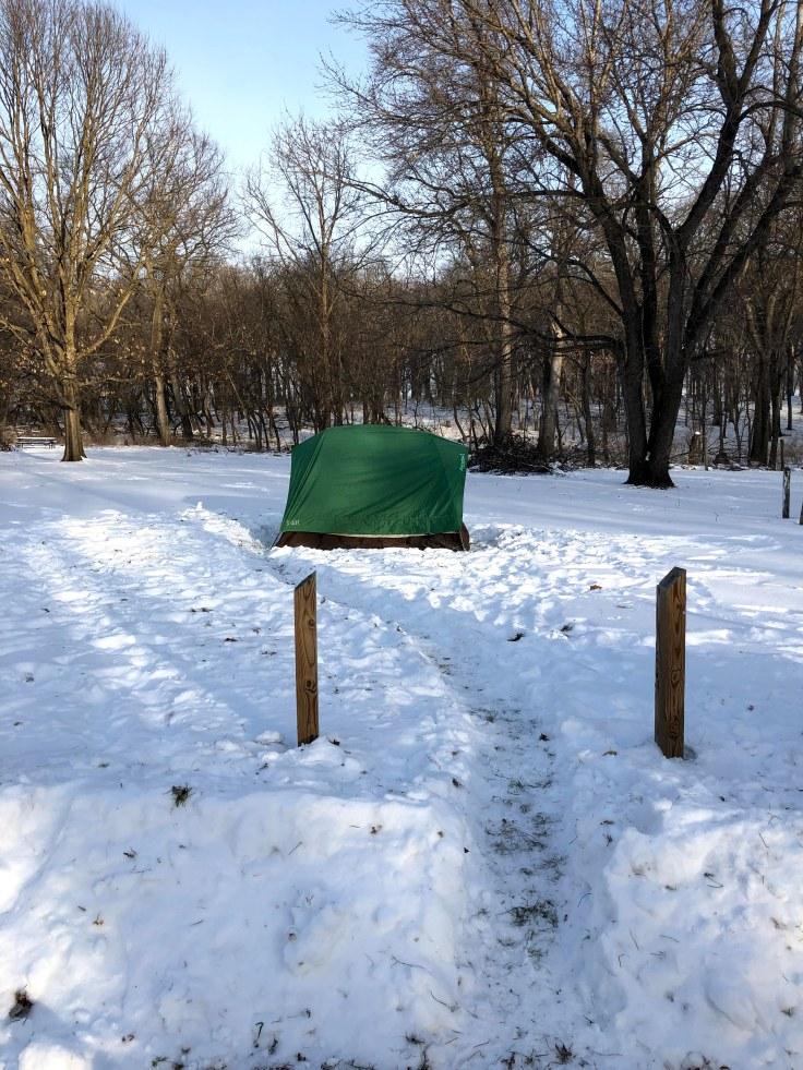 Outdoor Subzero Camping Lake Shetek Minnesota