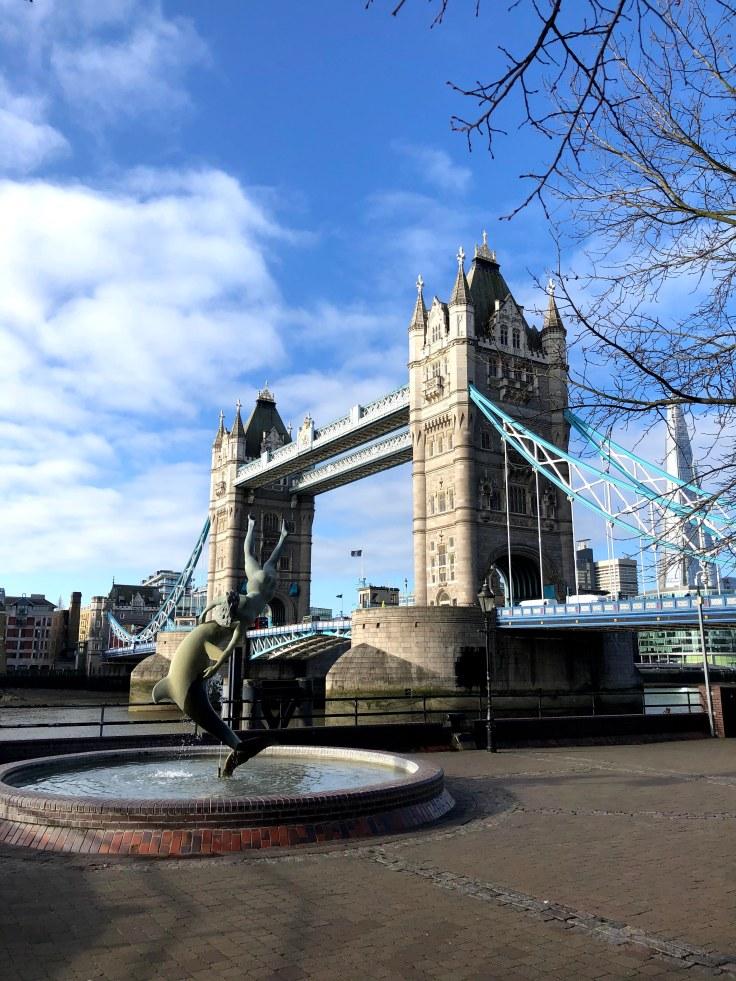 Tower Bridge London During Monday Morning Walk to Work